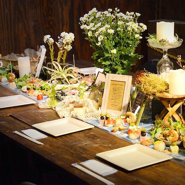 ケータリングの料理と装飾
